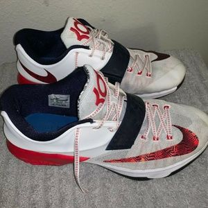 Nike KD VII 7 USA Red White Blue 653996-146 Sz 15